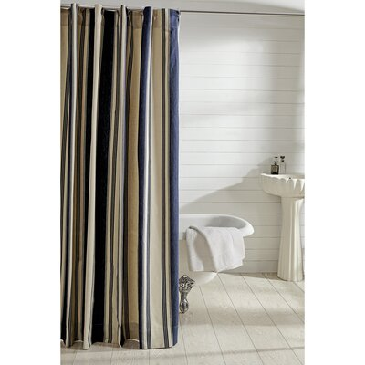 Cody 100% Cotton Shower Curtain Color: Blue