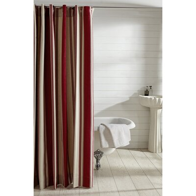 Cody 100% Cotton Shower Curtain Color: Red