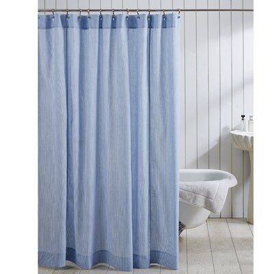 Elizabeth 100% Cotton Seersucker Shower Curtain Color: Blue