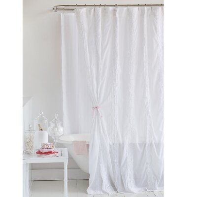 Lauries Ruffled 100% Cotton Shower Curtain