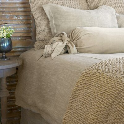 Jeremy Linen Blend Sham Size: Euro, Color: Natural