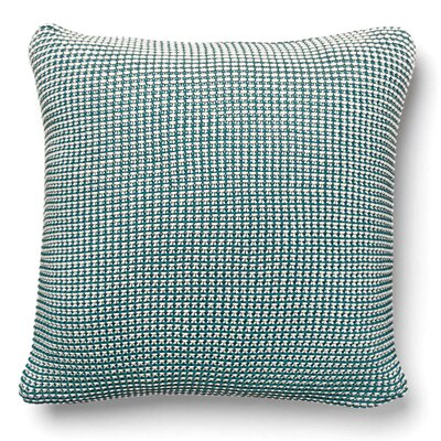 Cohen Knitted 100% Cotton Throw Pillow Color: Peacock