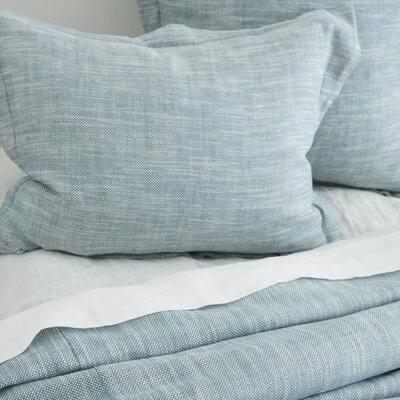 Jeremy Linen Blend Sham Size: King, Color: Teal