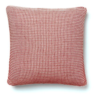 Cohen Knitted 100% Cotton Throw Pillow Color: Garnet