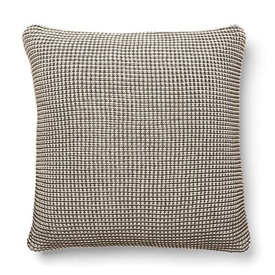 Cohen Knitted 100% Cotton Throw Pillow Color: Charcoal