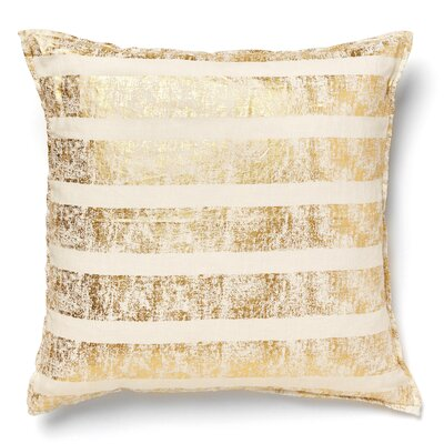 Kaleigh Striped Linen Throw Pillow Color: Gold