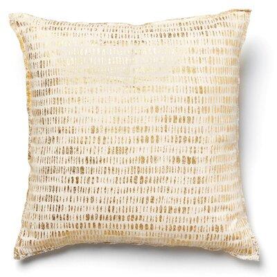 Kaleigh Mod Linen Throw Pillow Color: Gold