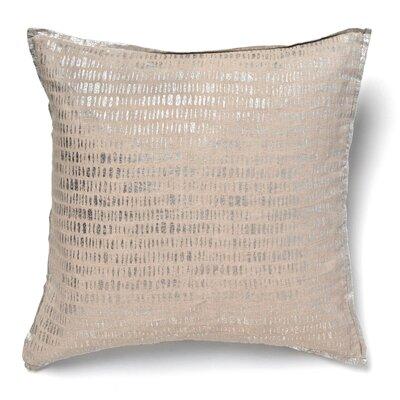 Kaleigh Mod Linen Throw Pillow Color: Silver