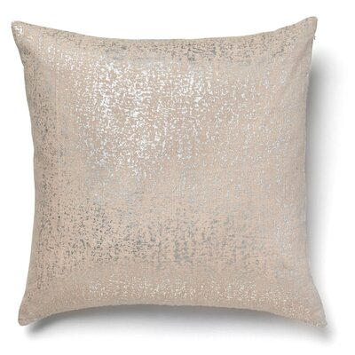 Kaleigh Flecked Linen Throw Pillow Color: Silver