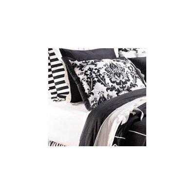 Damask Sham Size: Standard, Color: Black
