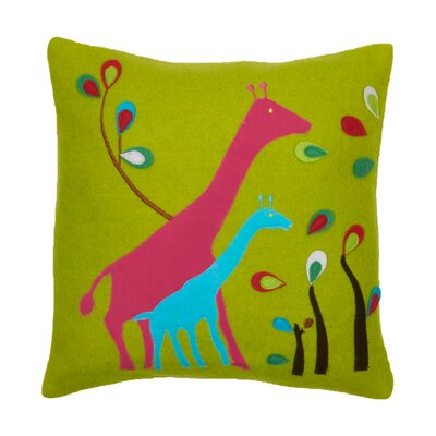 Giraffe Wool Felt Throw Pillow