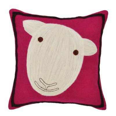Sheep Wool Felt Throw Pillow