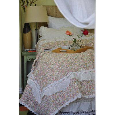 Anabell Quilt Set Size: Twin, Color: Ivory