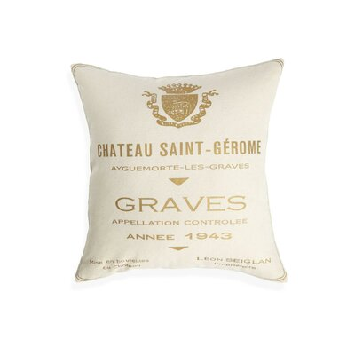 Chateau Saint Gerome Cotton Throw Pillow