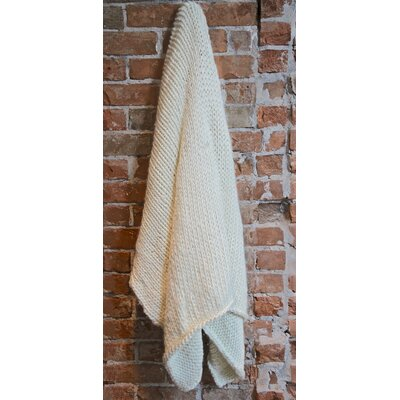 Ray Cotton Throw Color: Ivory