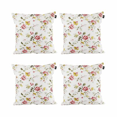 Brandt Cotton Pillow Cover Color: Red/Yellow/White