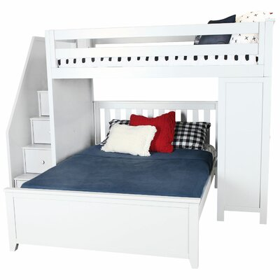 Ambrosius Staircase Combo Twin Over Full Loft Bed