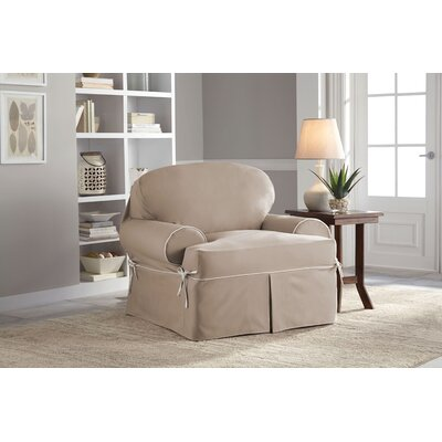 Twill T-Cushion Armchair Slipcover
