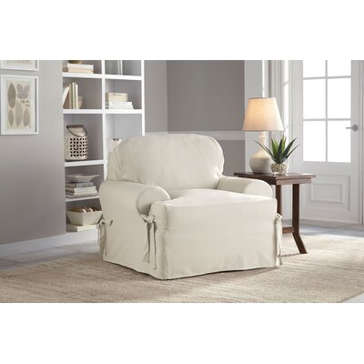 Cotton Duck T-Chair Slipcover Upholstery: Natural