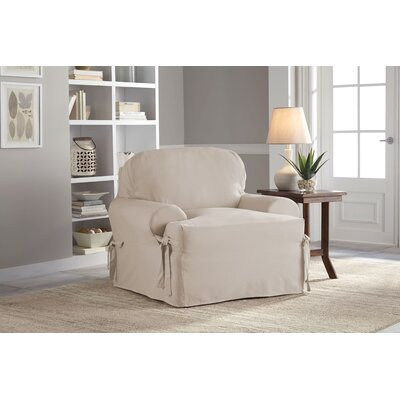 Duck T-Chair Slipcover Upholstery: Khaki