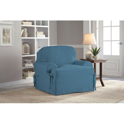 Cotton Duck T-Chair Slipcover Upholstery: Indigo