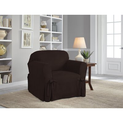 Armchair Slipcover Upholstery: Chocolate