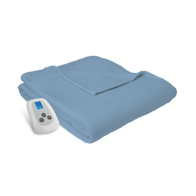 Electric Heated Blanket Color: Slate Blue, Size: Queen