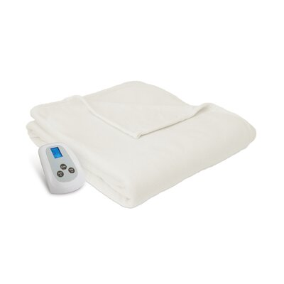 Electric Heated Blanket Color: Natural, Size: Queen