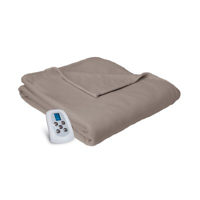 Electric Heated Blanket Color: Beige, Size: Queen