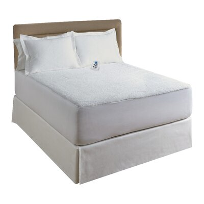 Sherpa Plush Electric Heated Mattress Pad Size: Twin