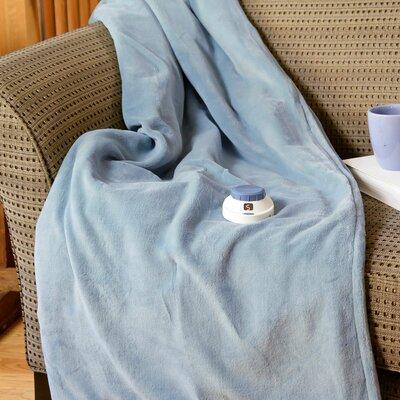 Luxe Plush Micro Fleece Electric Throw Color: Sapphire