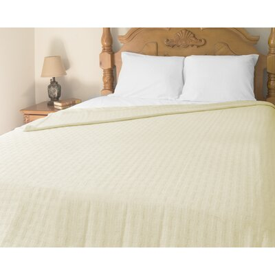 Perfect Sleeper All-Season Cotton Blanket Color: Cream, Size: Full/Queen