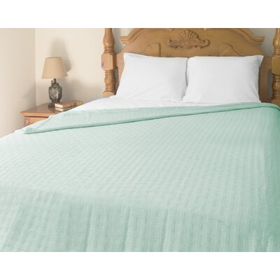 Perfect Sleeper All-Season Cotton Blanket Color: Aqua, Size: Twin