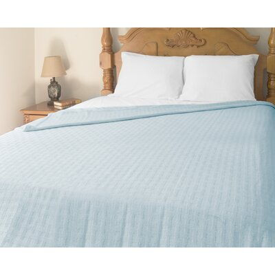 Perfect Sleeper All-Season Cotton Blanket Color: Blue, Size: Twin