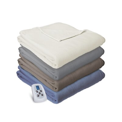 Heated Electric Warming Soft Micro Fleece Throw Blanket Size: Twin