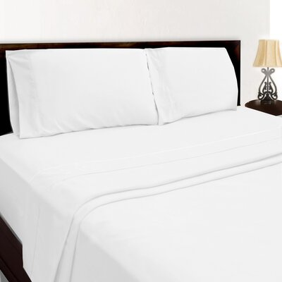 Premium Sheet Set Color: White, Size: King