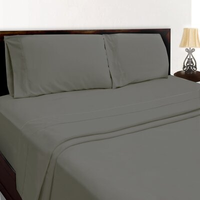 Premium Sheet Set Color: Dark Gray, Size: Full