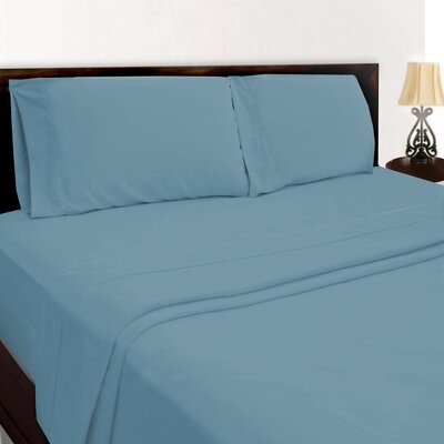 Premium Sheet Set Color: Blue, Size: Twin