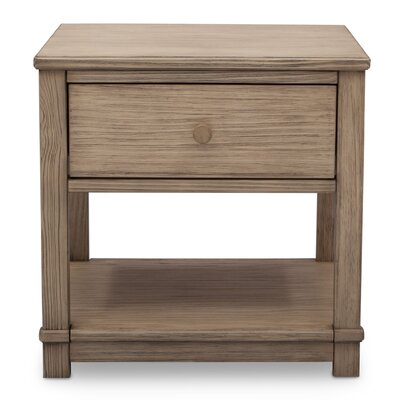 Langston 1 Drawer Nightstand Color: Rustic Whitewash