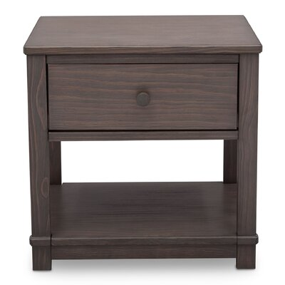 Langston 1 Drawer Nightstand Finish: Rustic Gray