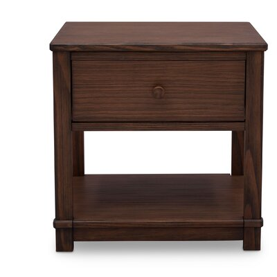 Langston 1 Drawer Nightstand Color: Rustic Oak