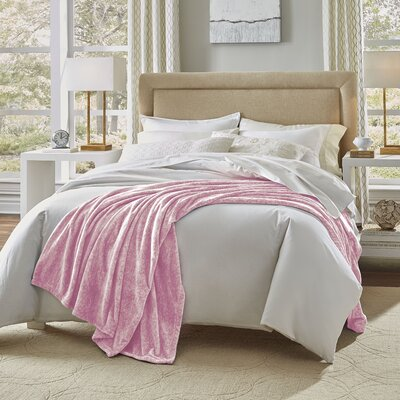 Heather Blanket Size: Full/Queen, Color: Pink Marble
