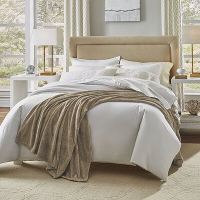 Heather Blanket Size: King, Color: Tan Marble