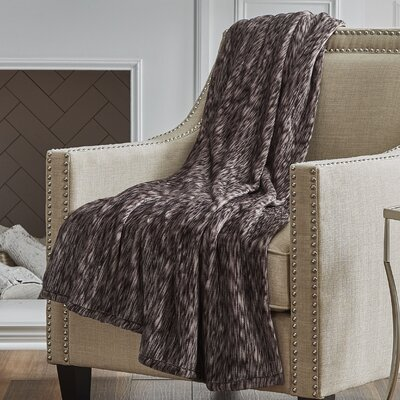 Heather Throw Color: Chocolate Blizzard