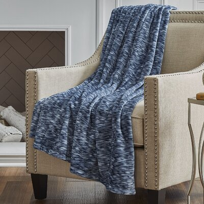 Heather Throw Color: Navy Blizzard