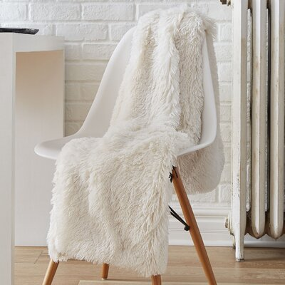 Reversible Shag Throw Color: White