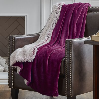 Reversible Frosted Throw Color: Garnet