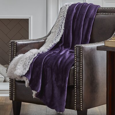 Reversible Frosted Throw Color: Plum