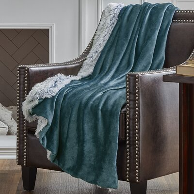 Reversible Frosted Throw Color: Forest