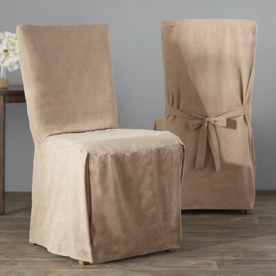 Dining Chair Regular Slipcover (Set of 2) Upholstery: Taupe